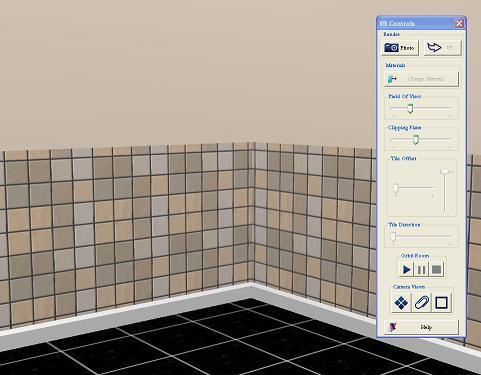 Rectangular tiles.